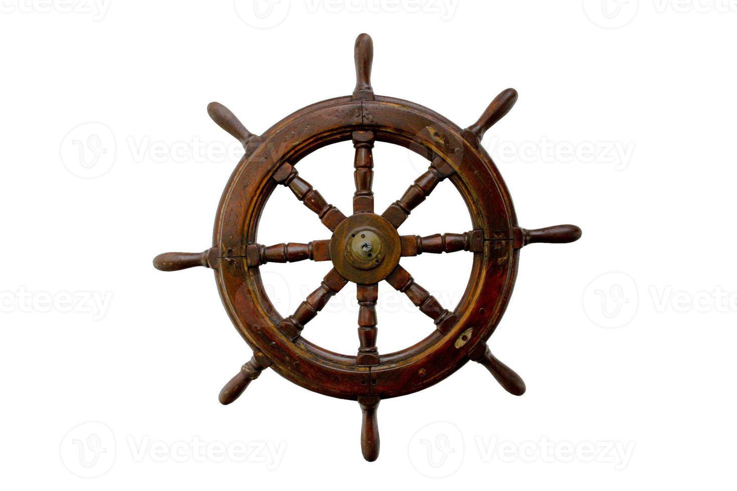 roda de controle isolado no branco foto