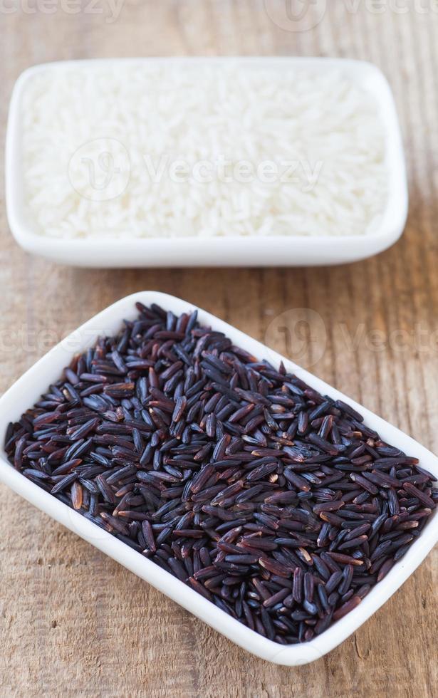 arroz castanho foto