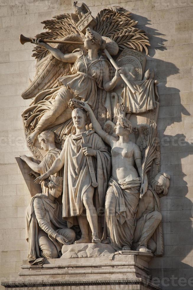 detalhe do arco do triunfo foto