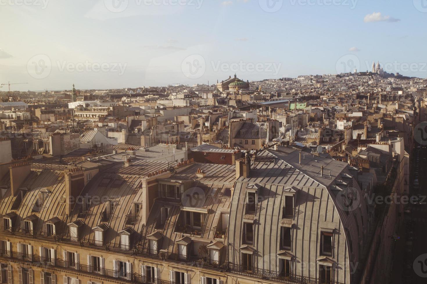 telhados de paris foto