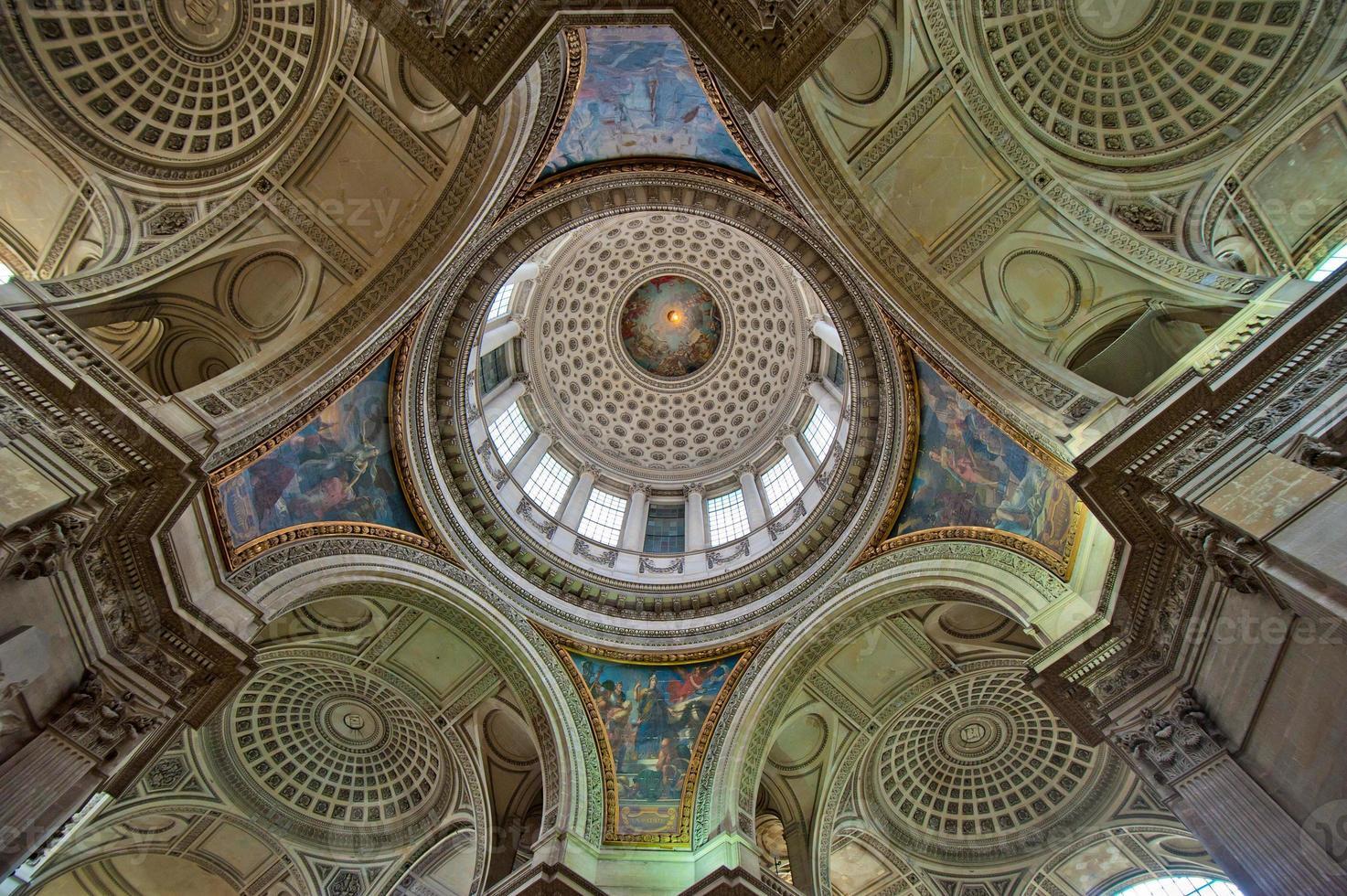 cúpula do panteão, paris, frança foto