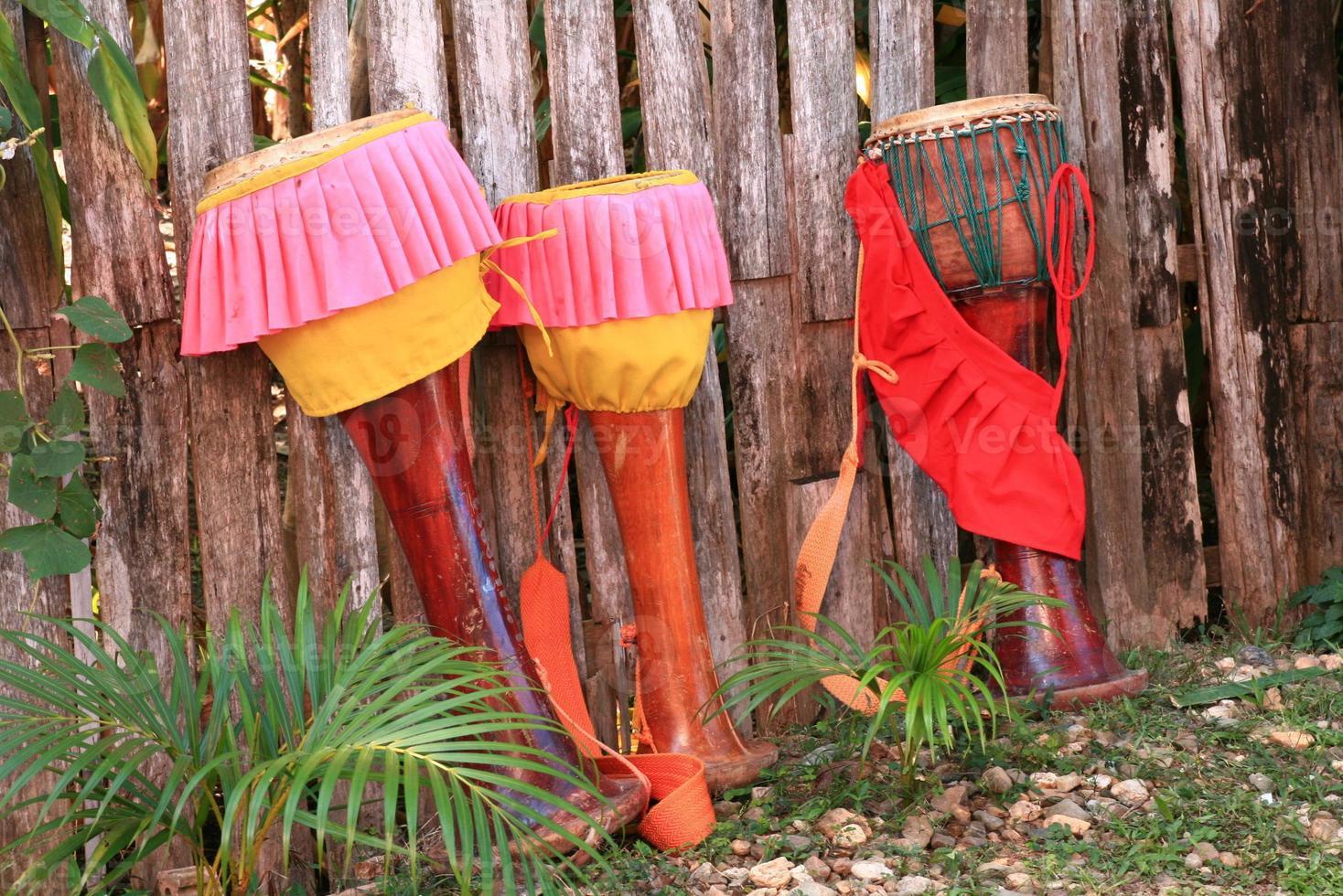 tambor tailandês de tradição foto
