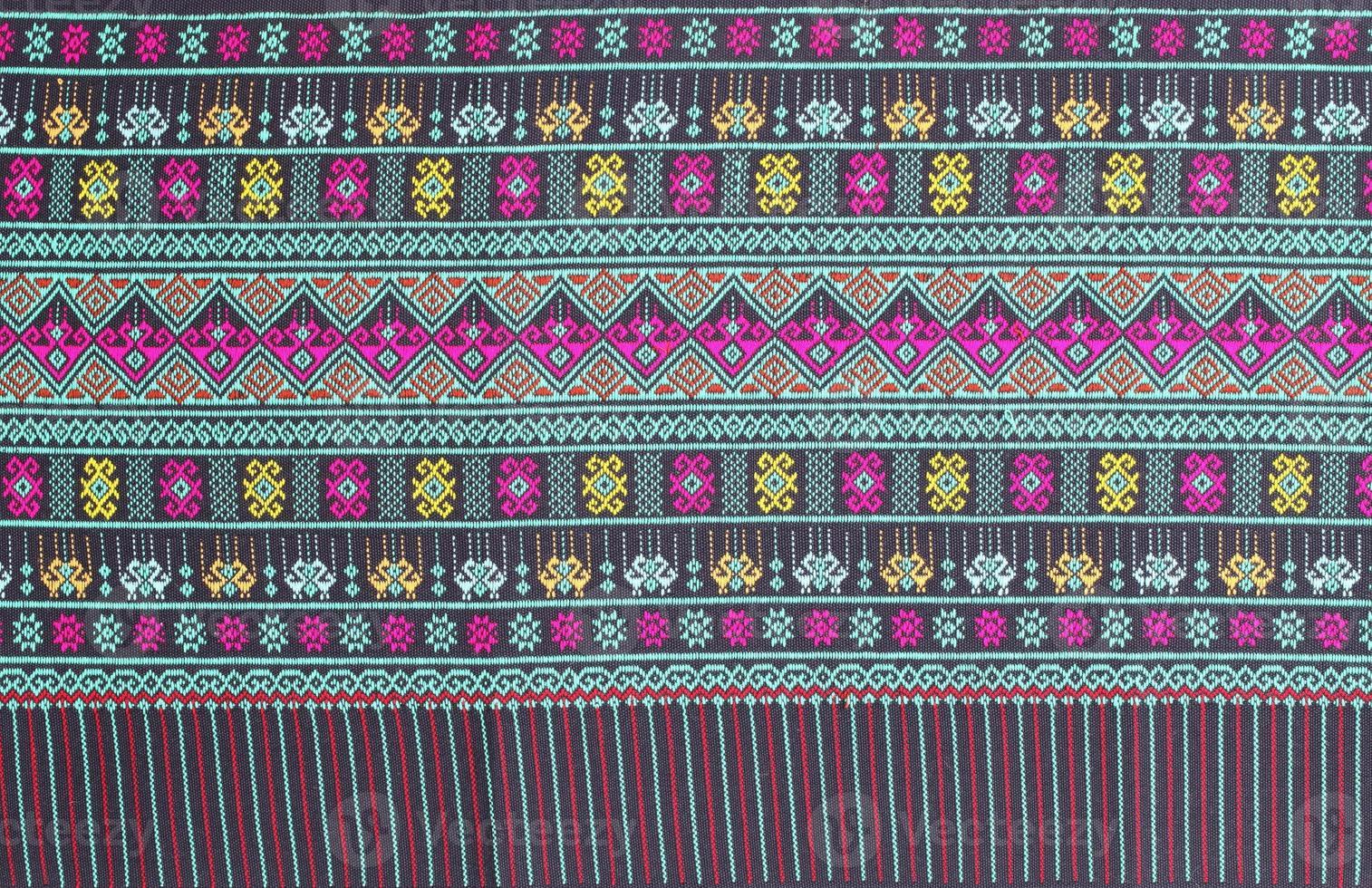 fundo de tecido de seda tailandês foto