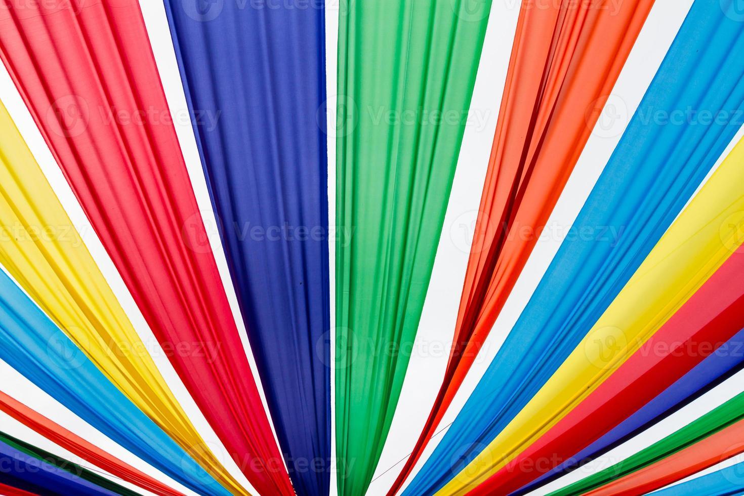 tecido colorido foto
