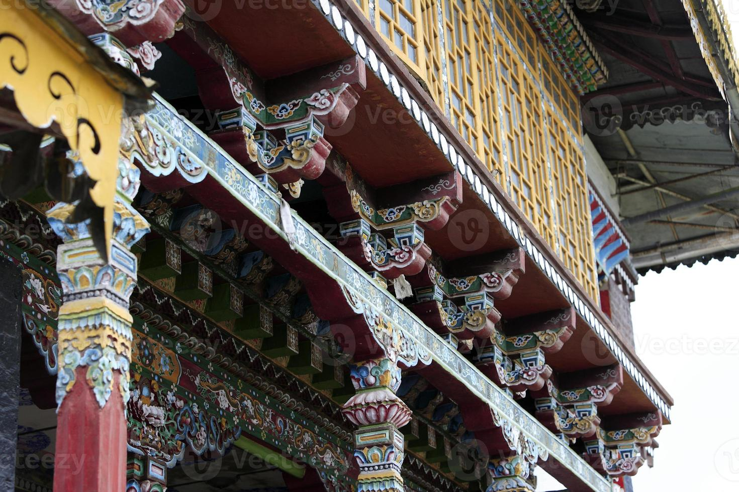 pinturas no mosteiro budista em sikkim, maio de 2009, Índia foto