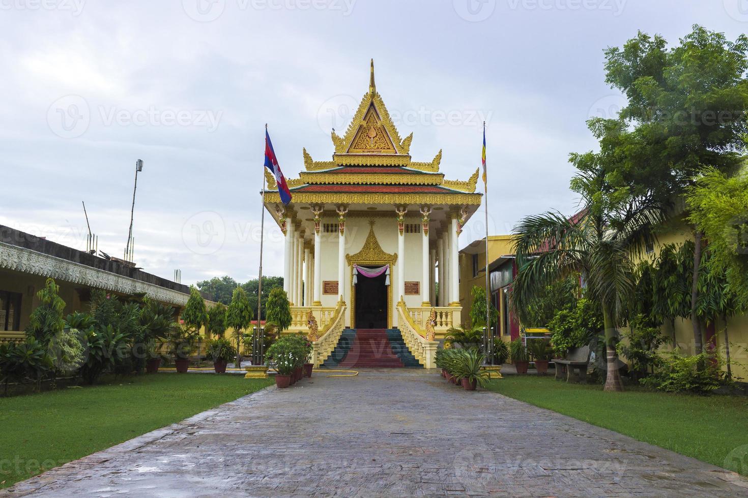templo budista cambojano foto
