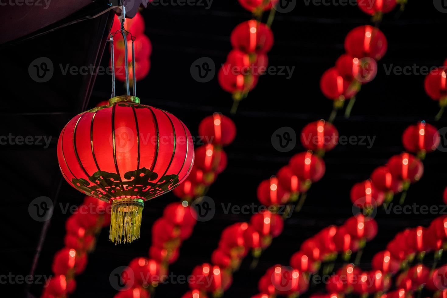 lanterna vermelha foto