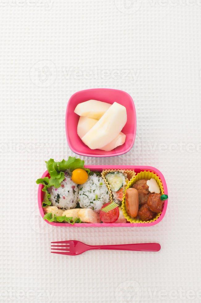 almoço colorido japonês foto