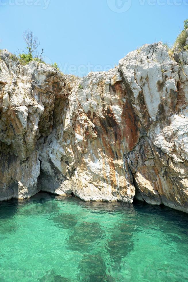 gruta rabac, istria, croácia, europa foto