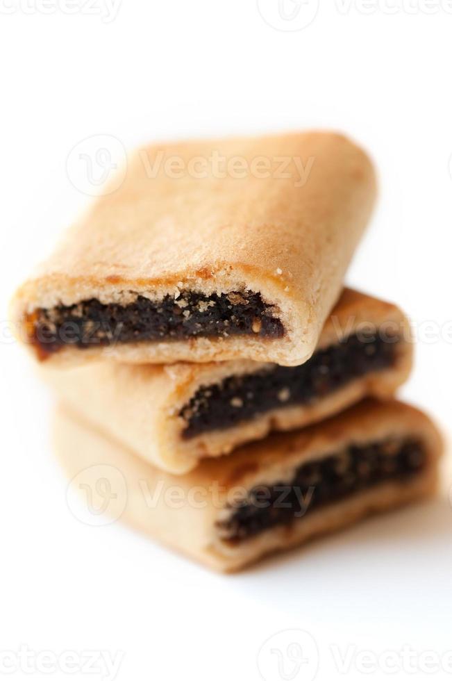 três deliciosos biscoitos de figo foto