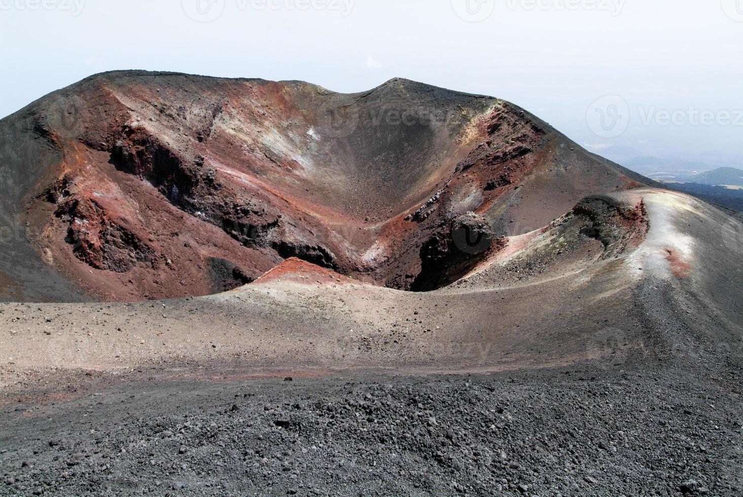 vulcão do Monte Etna na Sicília foto