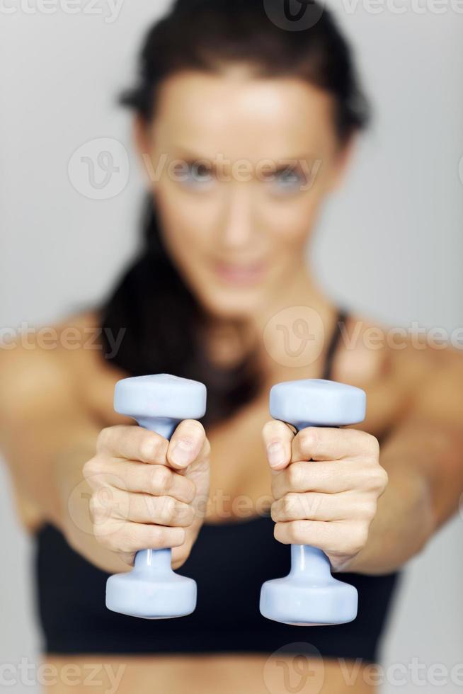 mulher em fitness foto