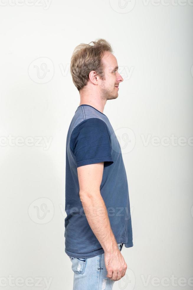 retrato de homem caucasiano foto