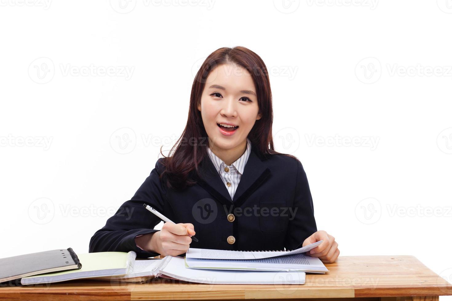 jovem estudante asiática foto
