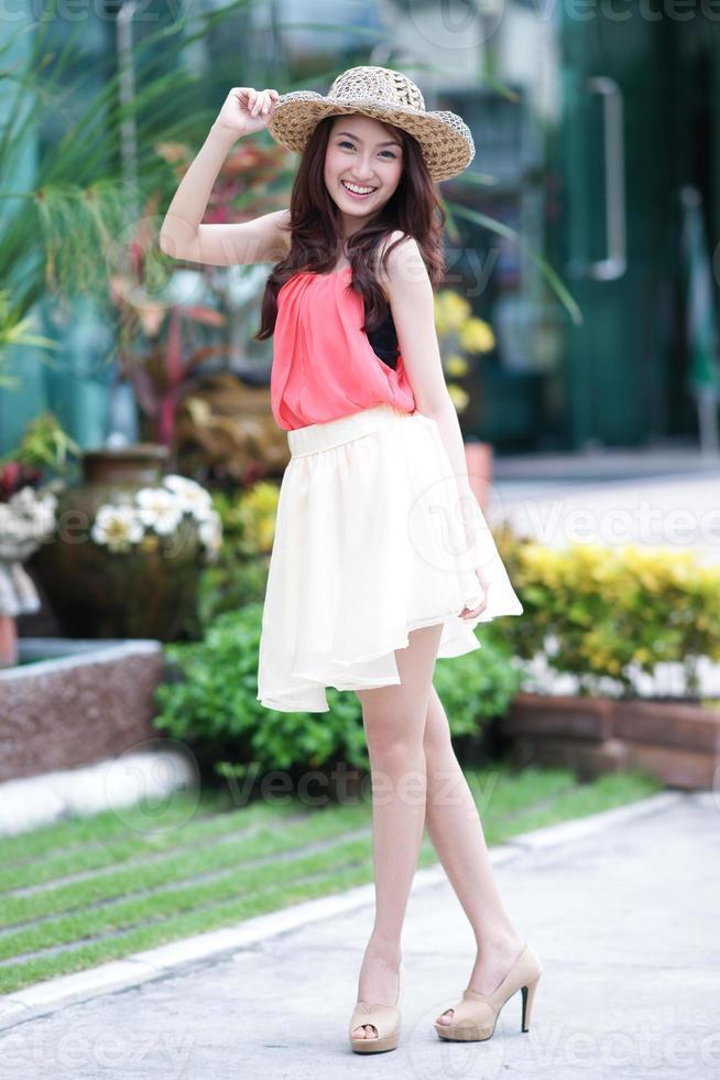 linda mulher asiática foto