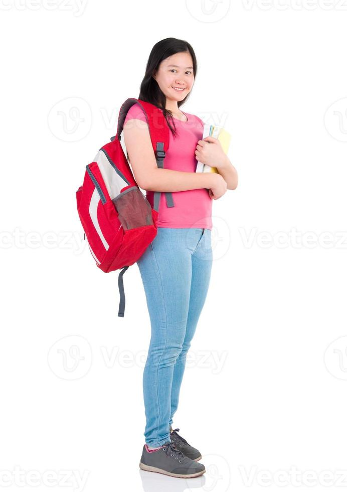 menina estudante asiática foto