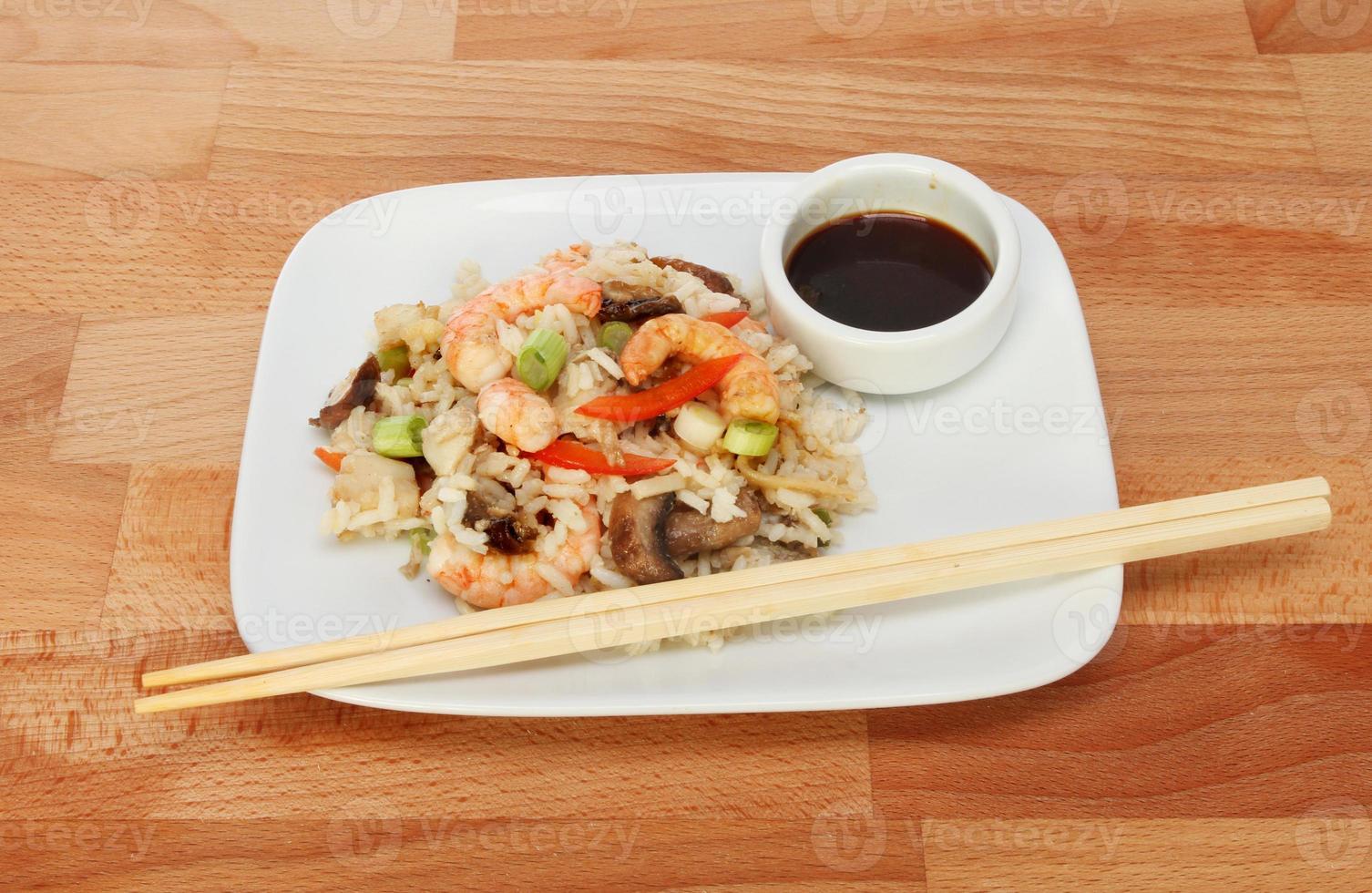 refeição asiática foto