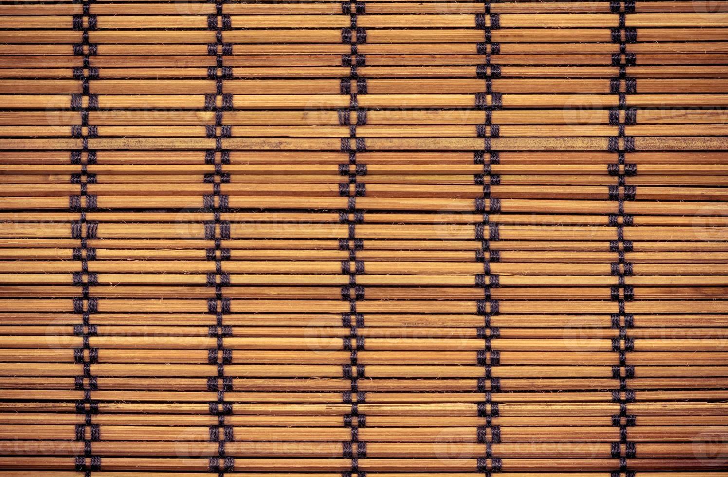 textura de madeira de bambu para o fundo foto