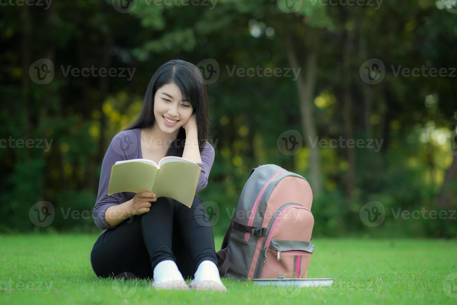 estudante asiática foto