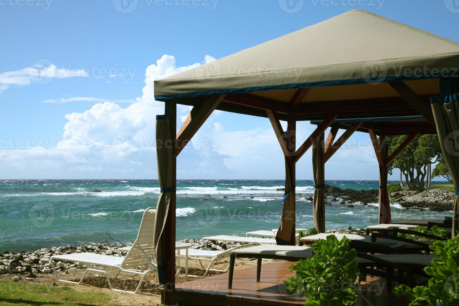 gazebo no resort de praia foto