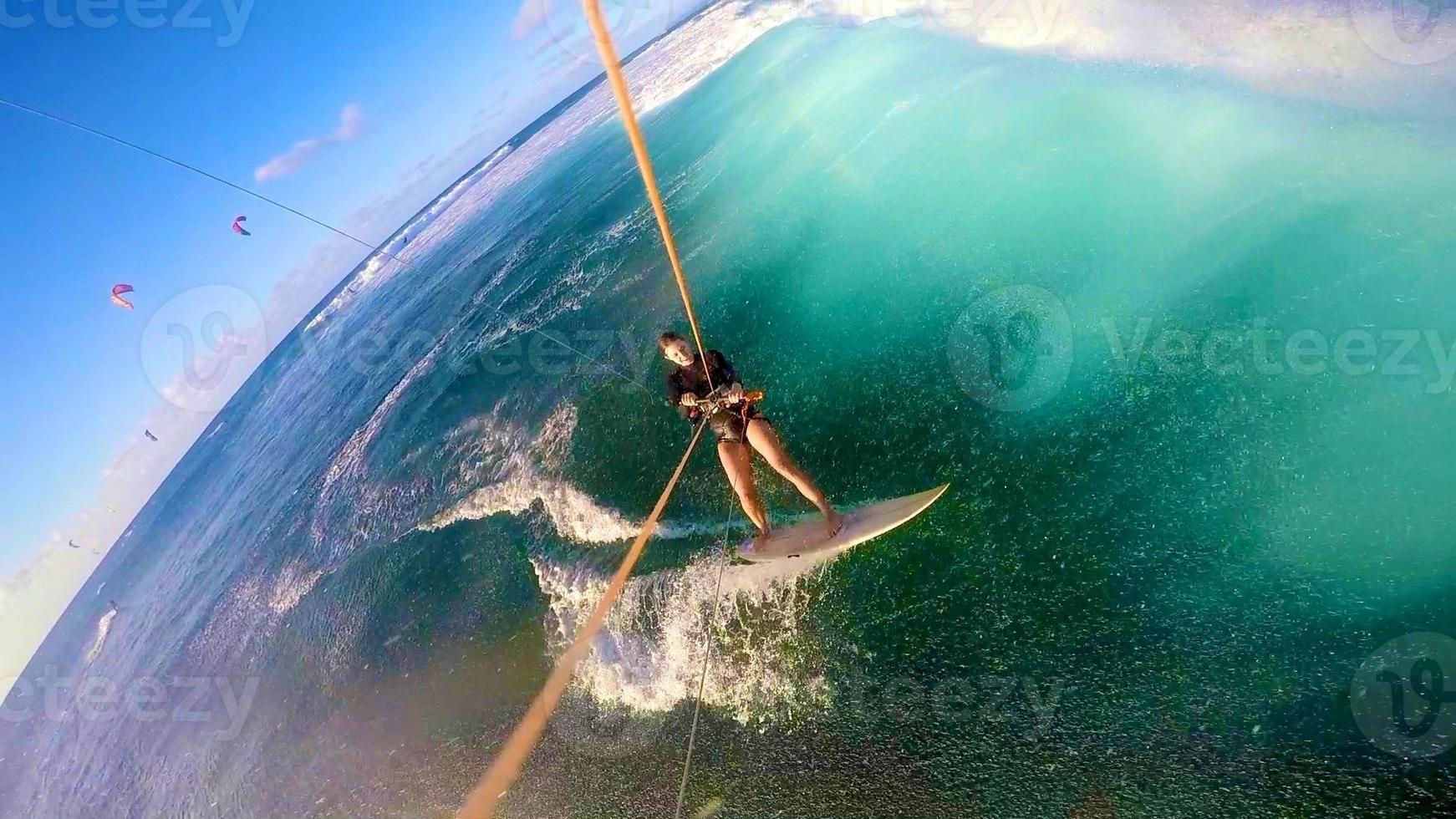 kitesurf gopro selfie havaí foto