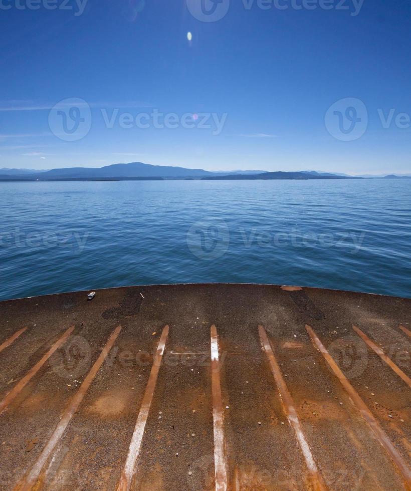 vista de andar de barco foto