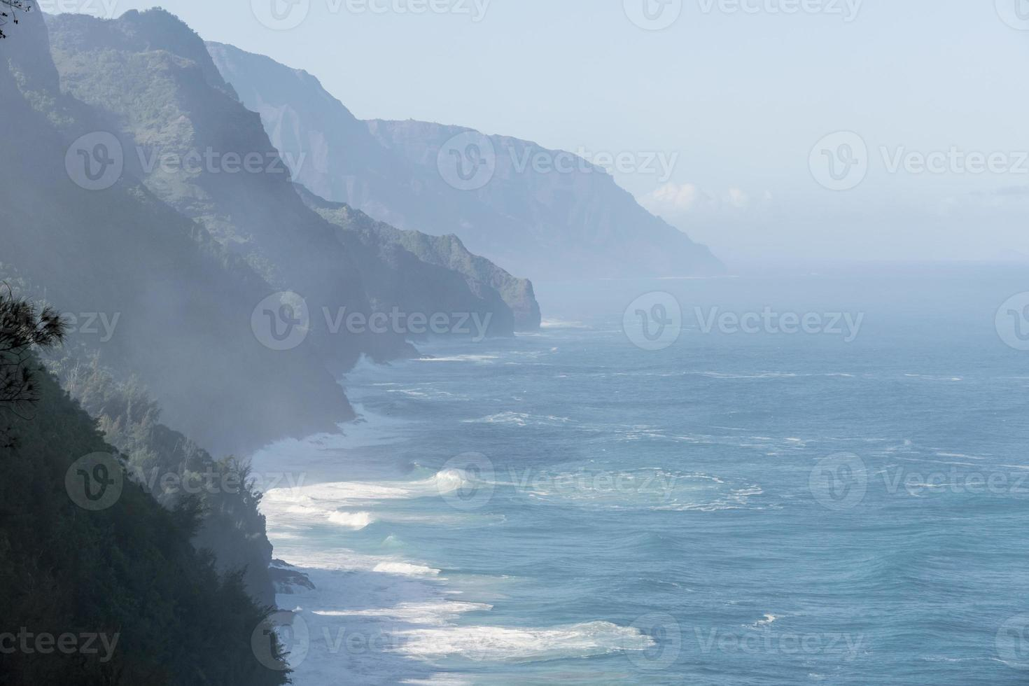 kauai na pali costa região selvagem foto