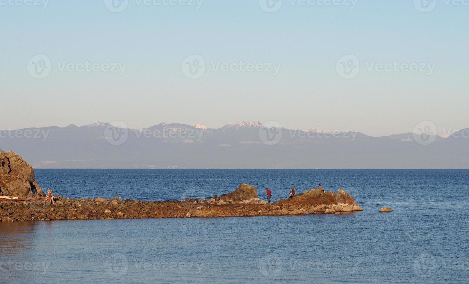 lagoa de gaiteiros em nanaimo, ilha de vancouver, colúmbia britânica, canadá foto
