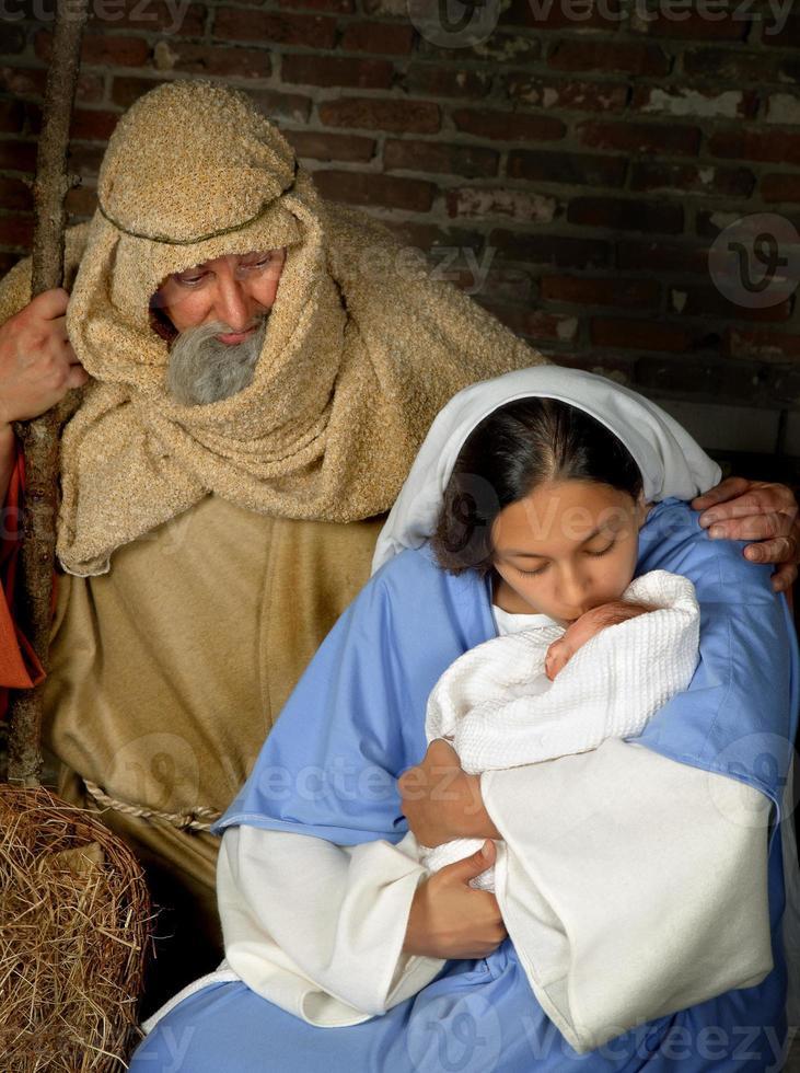 santa família de natal foto
