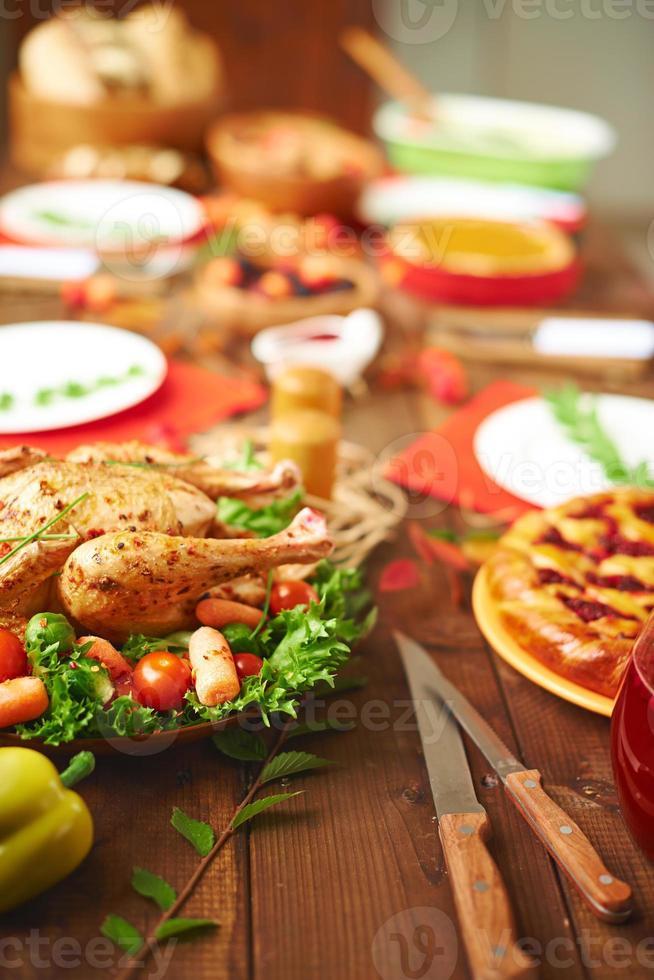 mesa de jantar em família foto