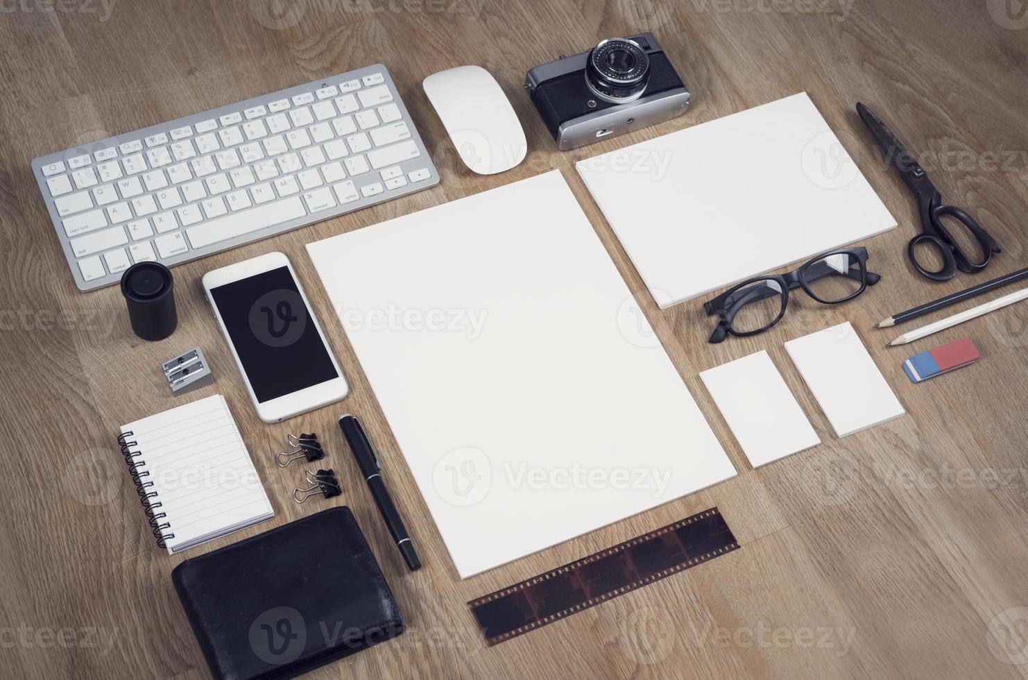 maquete de design de papel timbrado foto