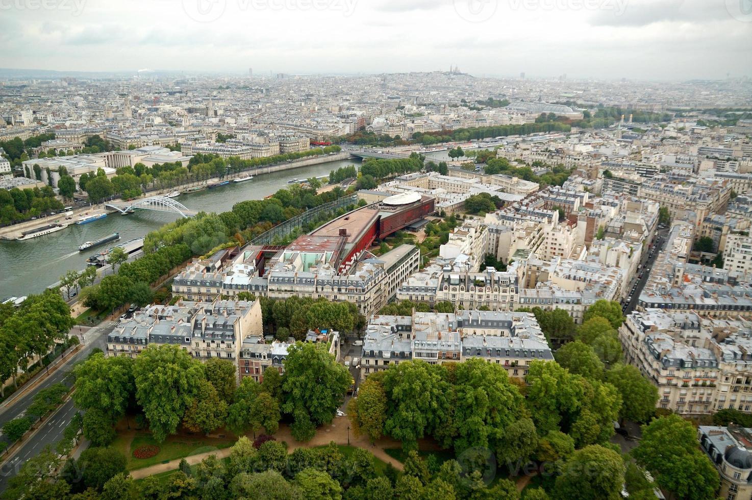 panorama aéreo de paris foto