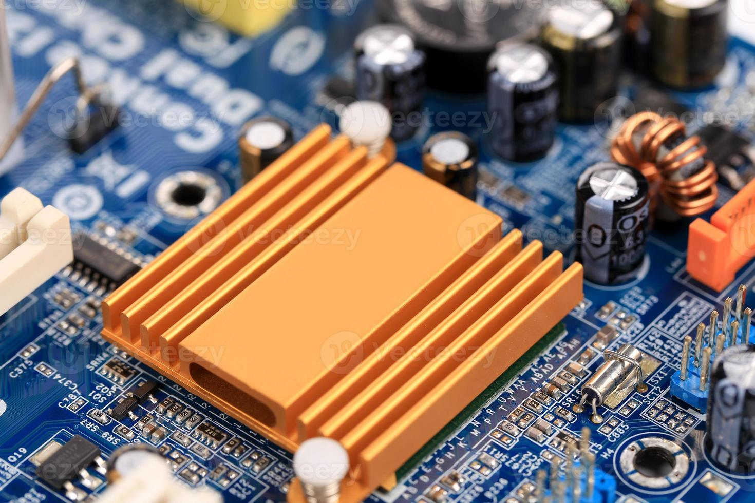 placa eletrônica close-up. foto