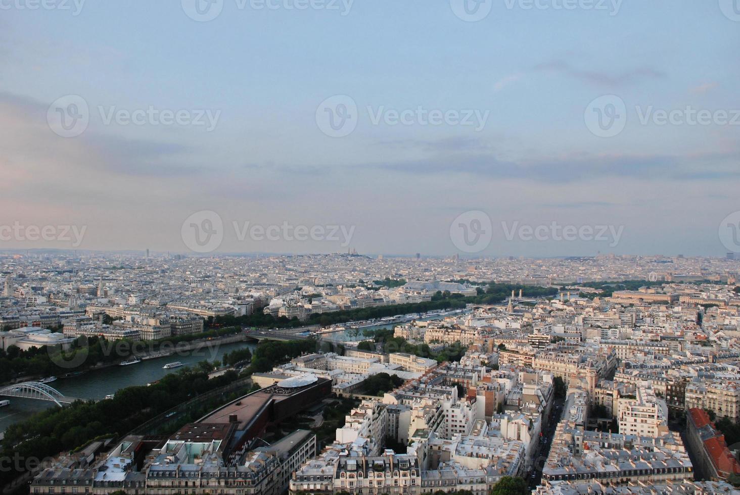 vista do centro de paris foto