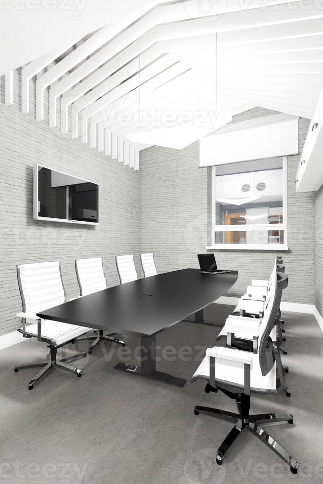 sala de reuniões interior vazio escritório moderno foto