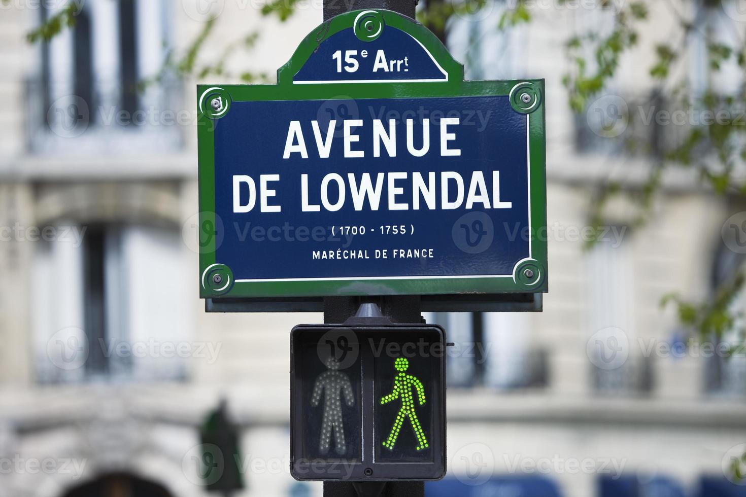 placa de rua em paris foto