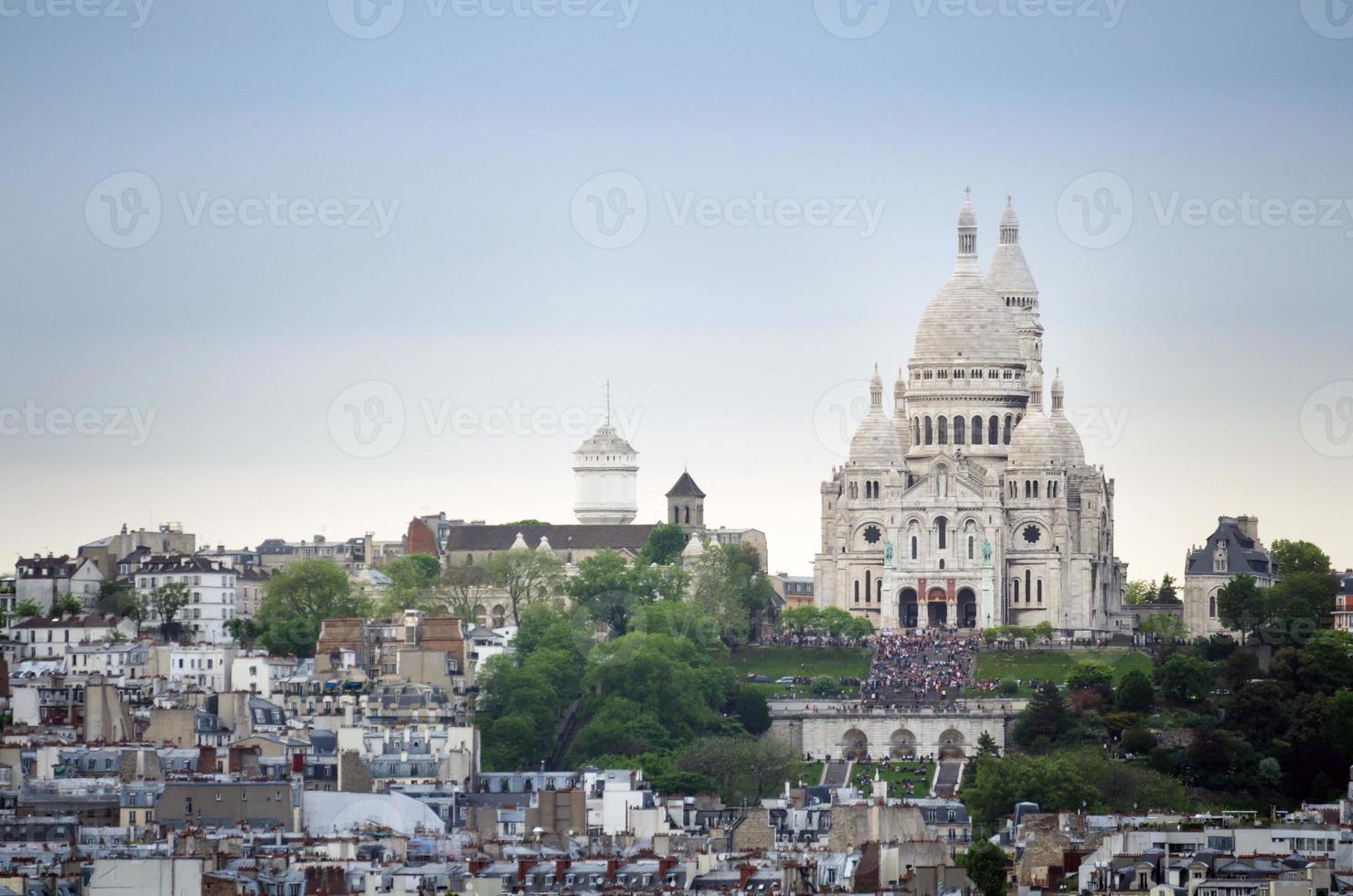 basílica sacre coeur em paris foto