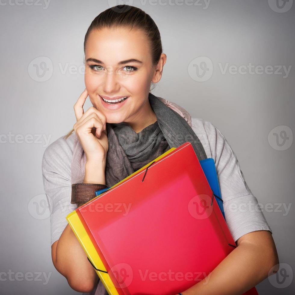 retrato de menina estudante foto