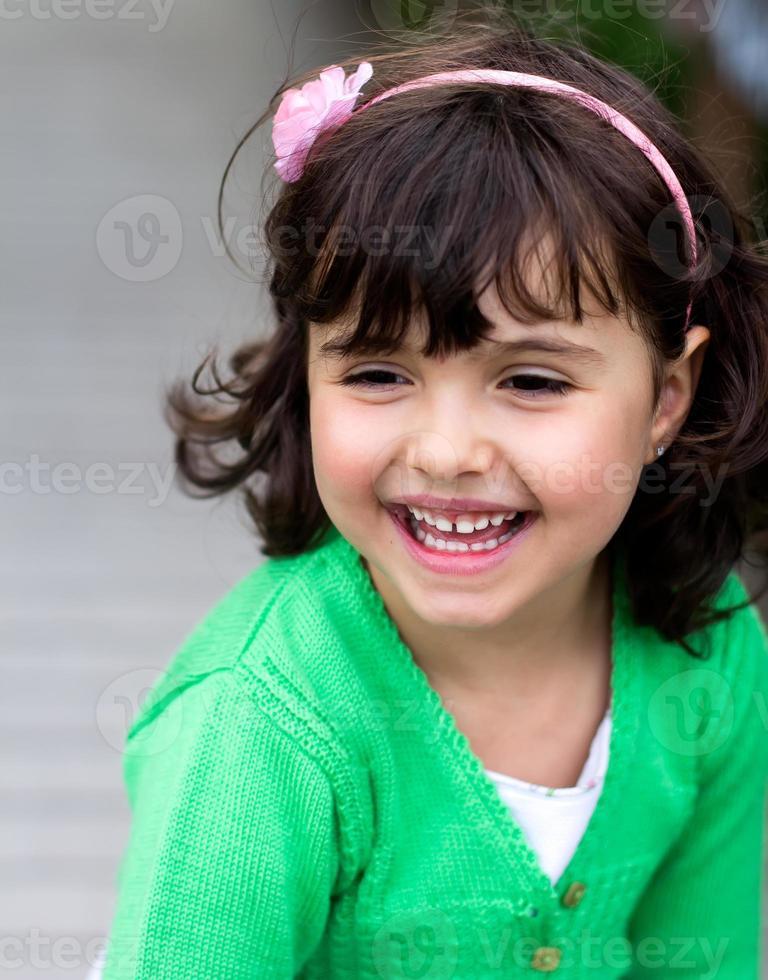 retrato de menina pequena foto