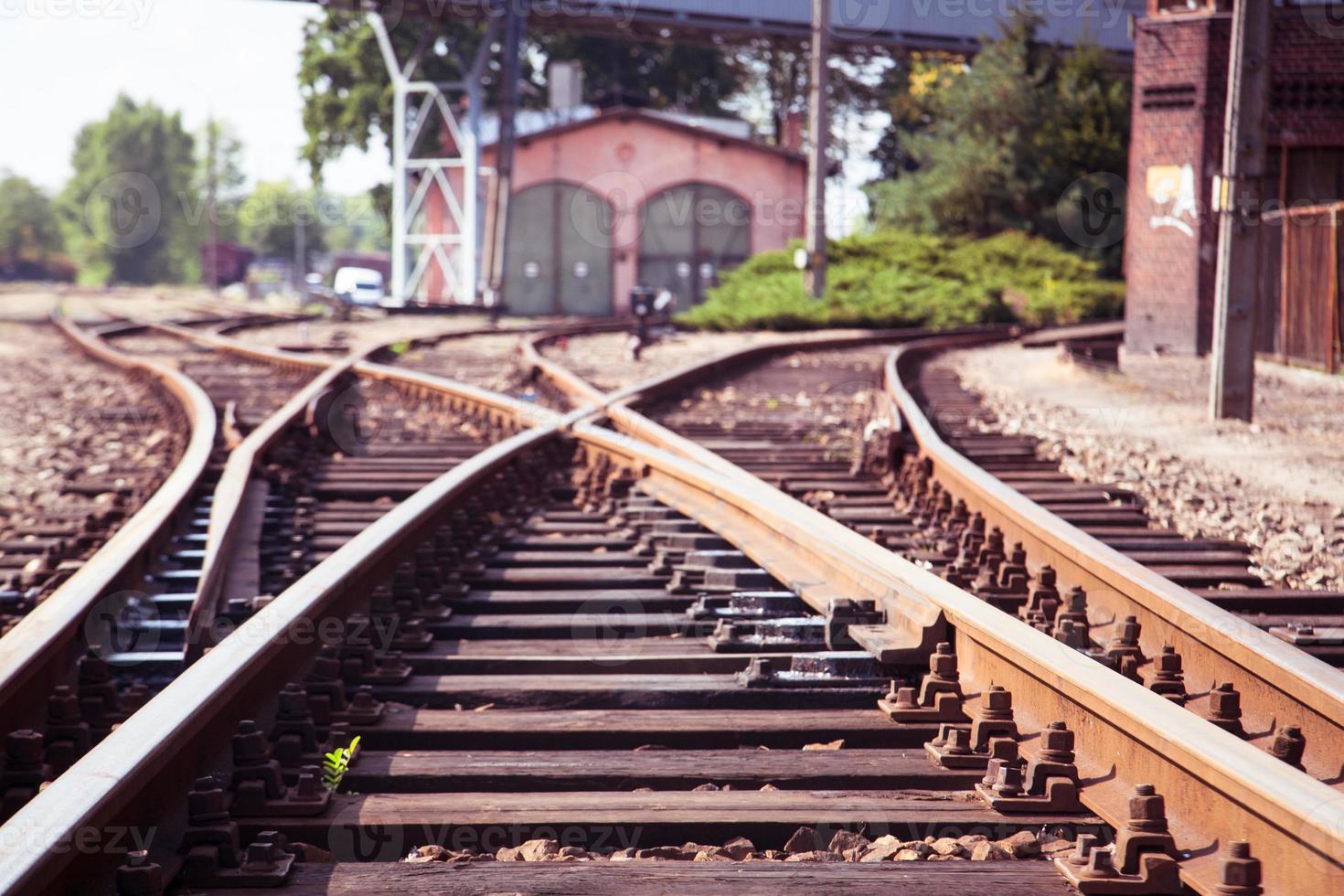 ferrovia de perto. foto