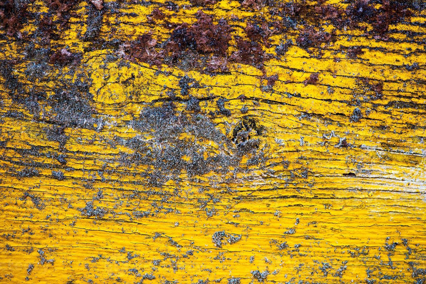 fundo de parede amarelo de madeira velha pintada foto