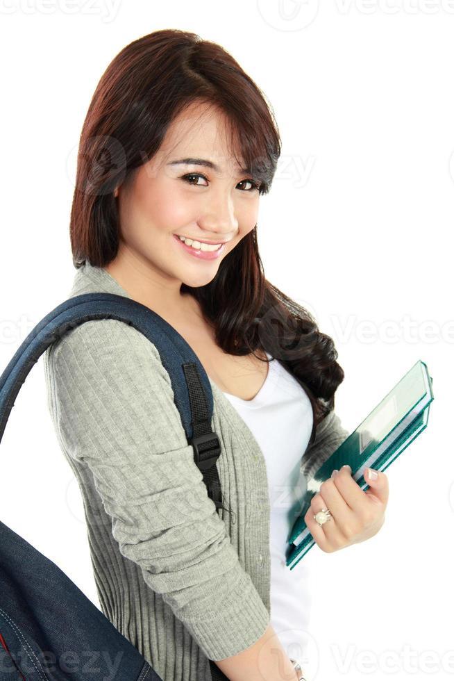 retrato de estudante feliz foto