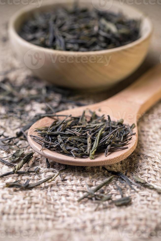 folhas de chá seco foto