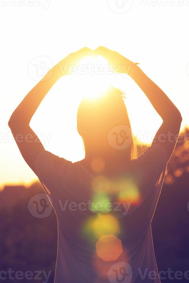 forma de coração para o sol. foto