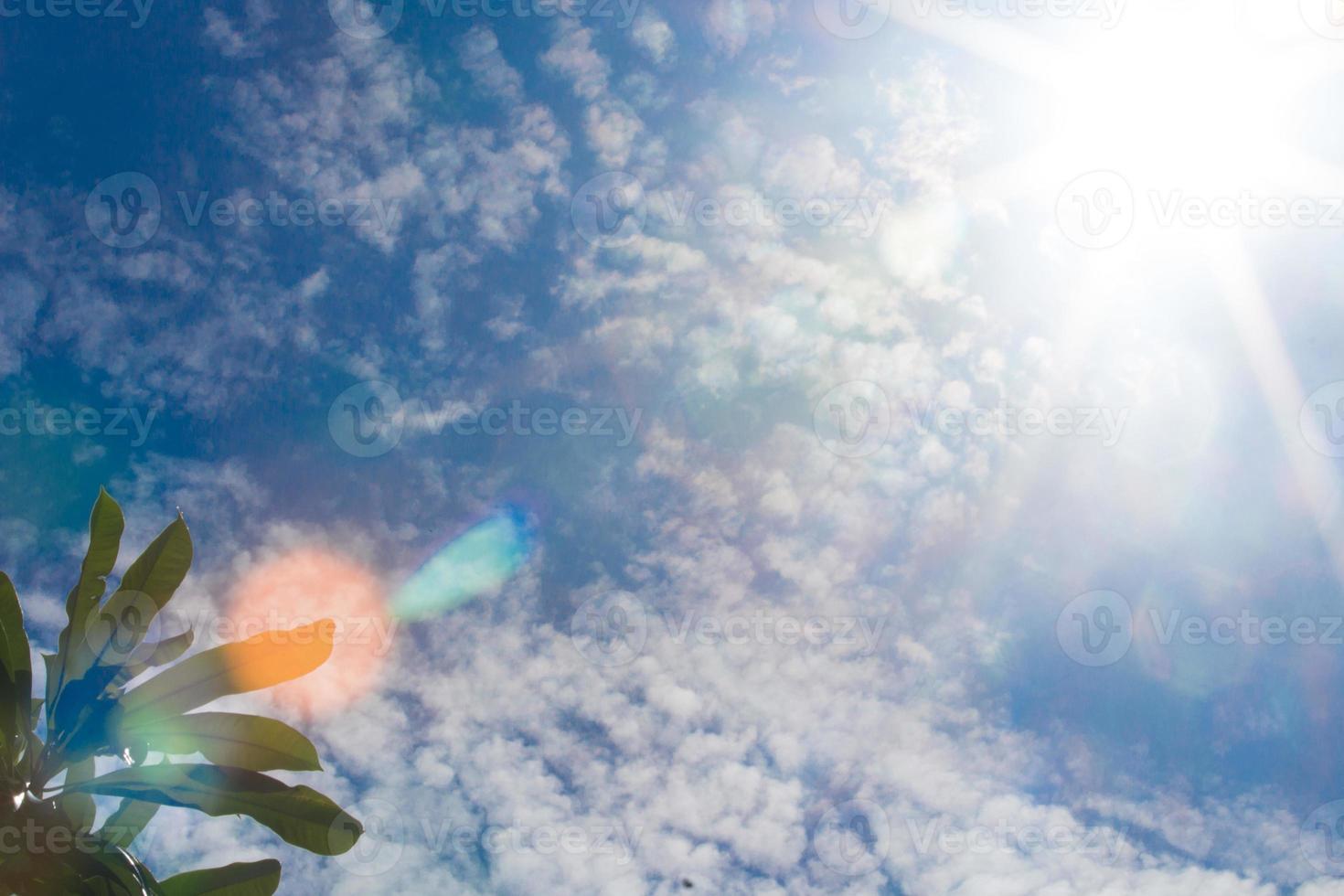 luz solar com flare foto