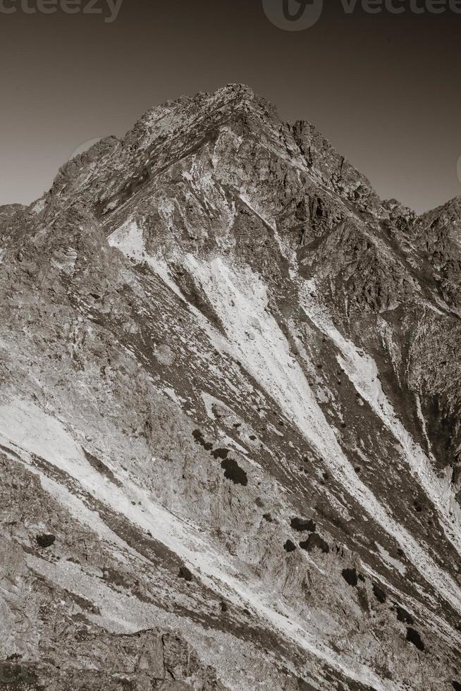 pico em tatras altos, eslováquia foto