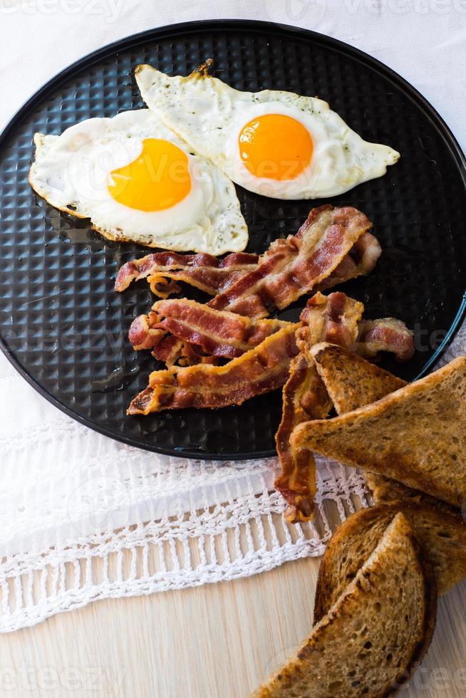 ovos e bacon foto