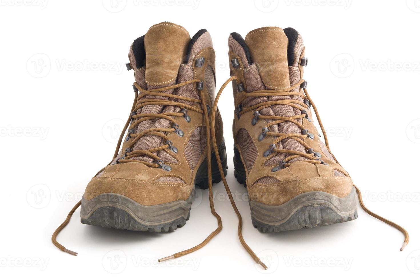 sapatos de caminhada foto