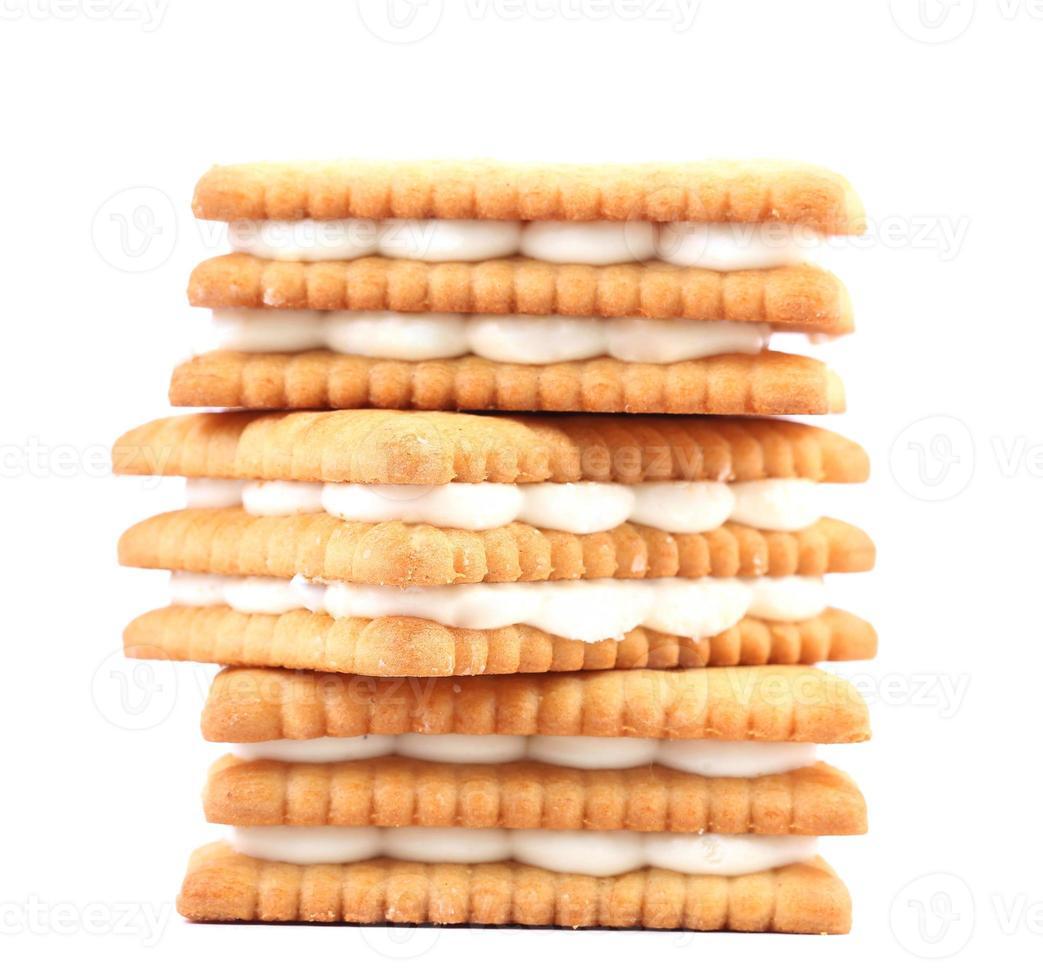biscoitos com chocolate branco. foto