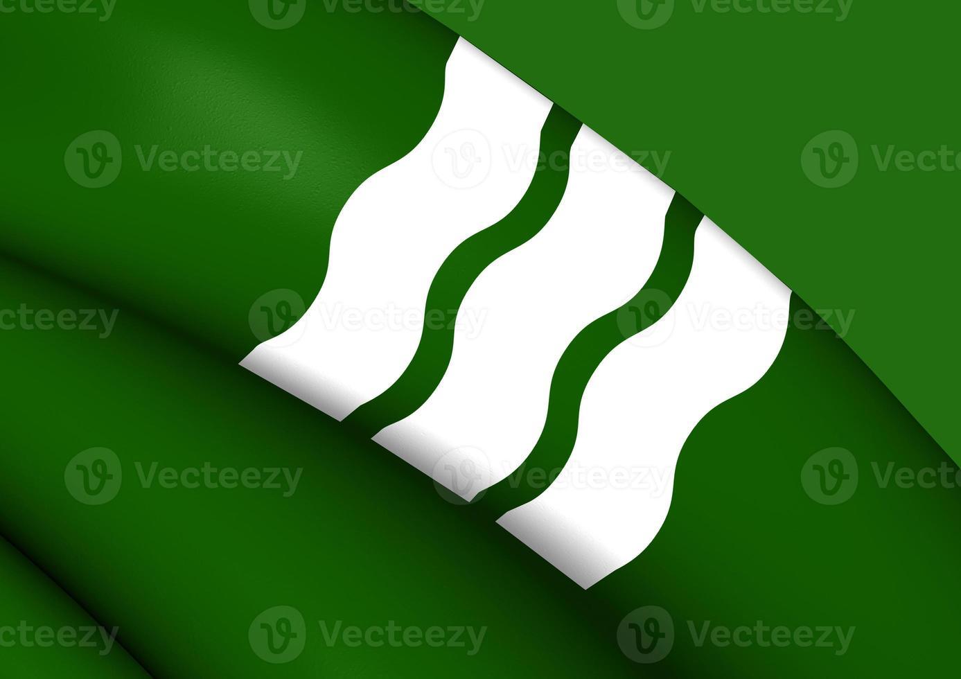 Bandeira da cidade de hiroshima, japão. foto